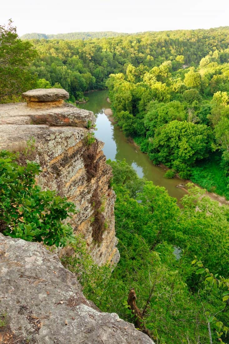 bluff overlooking Harpeth River Tennessee