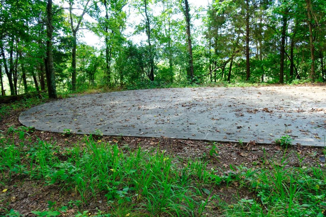 Rock dance floor in woods