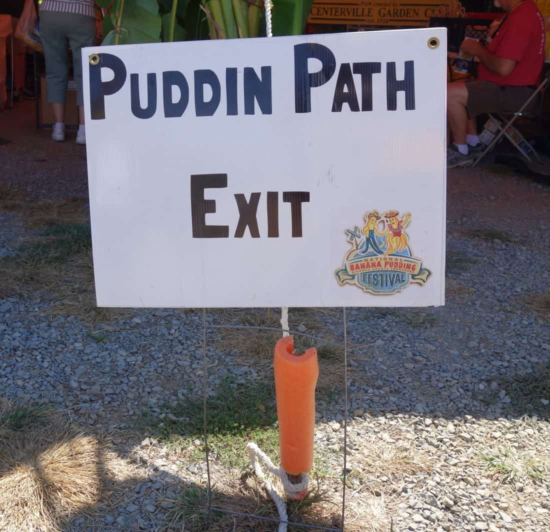 sign of pudding path exit