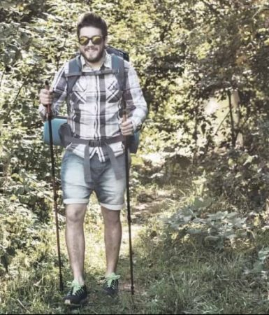 man in clothing that is hiking mistake
